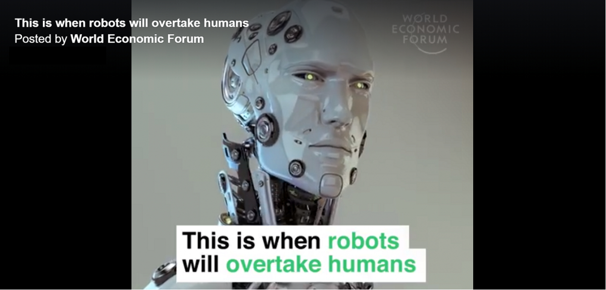 World Economic Forum on when Robots will overtake Humans